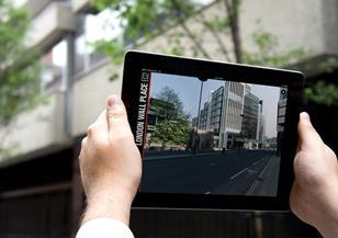 Virtual reality: Hammerson's London Wall app features a visualisation tool that lets you point your iPad at the site to see the building in situ.