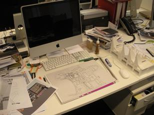 Richard Jobson's desk