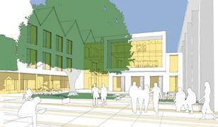 NVB winning scheme for Haberdashers' Aske's Boys' School - courtyard view