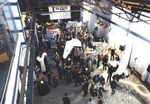 The IaaC's warehouse was filled with designs created at the Smart Geometry workshops.