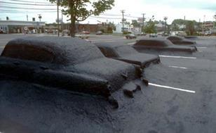 Ghost Parking Lot in Connecticut, by James Wines with Site