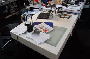 Patrik Schumacher's desk