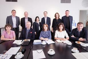 Leaders of the UK and Irish architectural institutes at their meeting in Belfast
