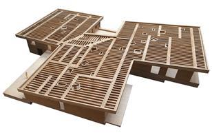 Model of house in Kenya designed by Jonathan Woolf Architects.