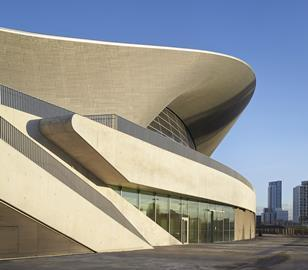 Zaha Hadid Architects' Aquatics Centre legacy mode