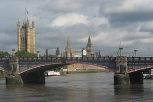 House of Parliament beyond Lambeth Bridge