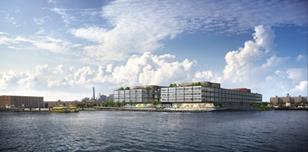 CGI of Foster and Partners' office Red Hook