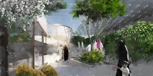 Mecca - Makkah Museum roof garden by Mossessian Architecture