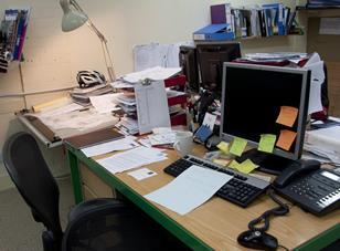 Alan Berman's desk