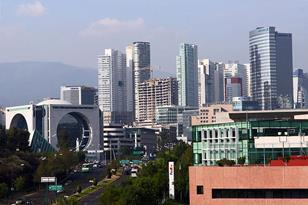 View of the Santa Fe District in Mexico City (Federal District), Mexico