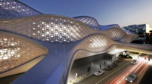 Zaha Hadid's King Abdullah Financial District Metro Station, Riyadh, Saudia Arabia