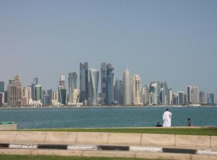 West Bay towers in Doha, Qatar.