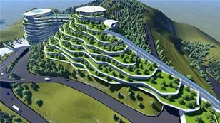 Rendering of Panorama proposal for Tbilisi hillside