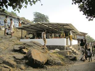 The students' finished classroom at the  Tata Press quarry.