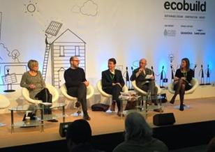 BD Debate on housing at Ecobuild. L-r: Alison Brooks, Martyn Evans, Hank Dittmar, Wayne Hemingway, Elizabeth Hopkirk