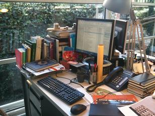Jo McCafferty's desk