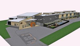 Project visualised in SketchUp 7 by Jim Allen of Blaenau Gwent County Borough Council.