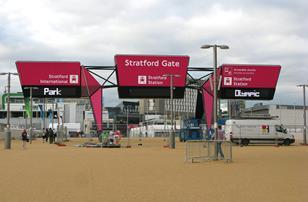 The Olympic Park entrance arches by Surface Architects.
