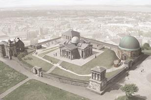 Malcolm Fraser's plans for Edinburgh's City Observatory - aerial view