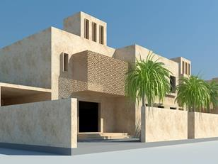 Conceptual image of a four bedroom villa in Ain Al Iraq