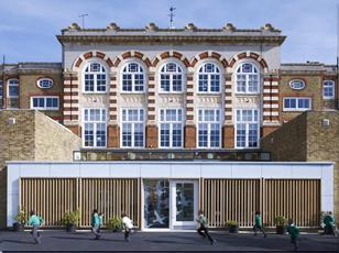 Goose Green Primary School in Southwark by Cazenove Architects, singled out in the book as an example of good design