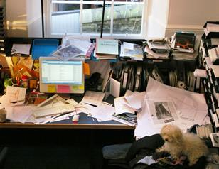 Richard Murphy's desk