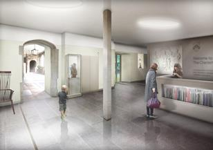 Eric Parry Architects - sketch of Charterhouse foyer