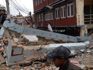 The aftermath of Saturday's earthquake in Nepal