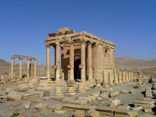 Temple of Baalshamin, Palmyra, Syria, in 2005. Dating from the second century BC, it was rebuilt 131AD. Destroyed by IS in August this year