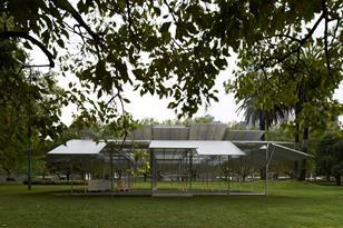 MPavilion by Sean Godsell: install images by Earl Carter