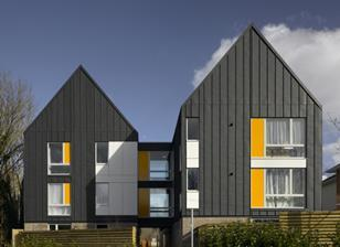 Bradbury Place, Design Engine's Enham project, shortlisted for a Housing Design Award