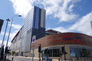 Gateshead's Trinity Square shopping centre and student accommodation development