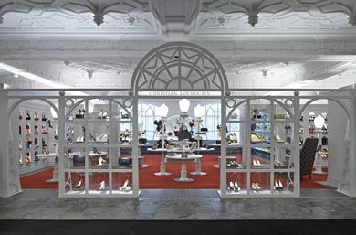 Christian Louboutin Boutique, Harrods by Lee Broom