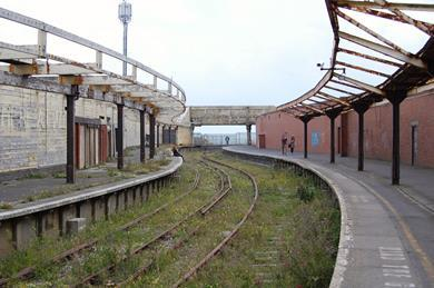 The disused Folkestone Harbour railway station remains a testimony to the countless travellers who have passed through the town