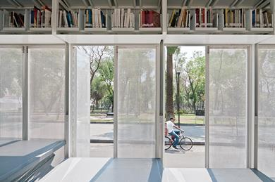 Mobile Art Library, Mexico City by Productora