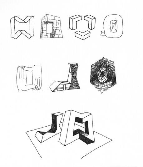 Drawings by Madelon Vriesendrop of metaphors underlying OMA's CCTV Building.