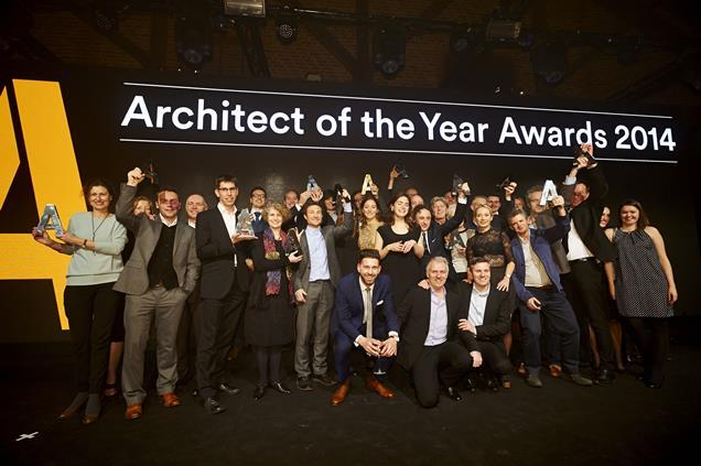 All the AYA 2014 winners celebrating their success at The Brewery in central London last night