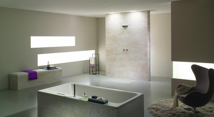 Kaldewei Asymmetric Duo bath and Conoflat shower surface